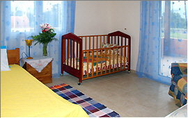 Single bed and child's bed