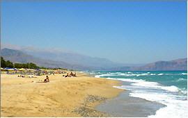 Georgioupolis: Beach of Kavros and White Mountains